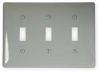 Wall Plate,Switch,3 Gangs,Gray -- 2XVA8