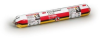 3M CP 25WB+ Firestop Sealant - Red Paste 20 fl oz Sausage Pack - 11642 -- 051115-11642 - Image