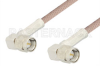 SMA Male Right Angle to SMA Male Right Angle Cable 24 Inch Length Using 95 Ohm RG180 Coax, RoHS -- PE3141LF-24 -- View Larger Image