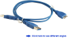 1-ft USB 3.0 male-A to male-Micro Y cable &#8230 -- CBL-USB3-AMU-3