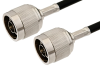 N Male to N Male Cable 24 Inch Length Using RG8X Coax -- PE33720-24 -Image