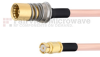 Snap-On BMA Jack to SMP Female Cable RG405 Type .086 Coax in 36 Inch -- FMCA1608-36 -Image