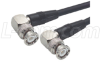 RG58C Coaxial Cable, BNC 90º Male / 90º Male, 15.0 ft -- CC58C-15HR2