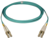 10Gb Duplex Multimode 50/125 OM3 LSZH Fiber Patch Cable (LC/LC) - Aqua, 3M (10-ft.) -- N820-03M - Image