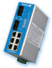 Industrial Ethernet Switch with 8 Web-Managed Ports and Redundancy -- EIS-408FX -Image