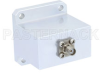 WR-102 Square Type Flange to End Launch SMA Female Waveguide to Coax Adapter Operating from 7 GHz to 11 GHz -- PE9871 - Image