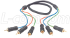 3 Line RGB Component RCA Cable Male / Male, 25.0 ft -- CVR3MM-25