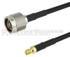 N Male to RP SMA Female Cable LMR-240 Coax in 6 Inch and RoHS Compliant -- FMCA1218LF-06 -Image
