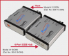 ST Fiber-to-USB Converter/Extender, Host -- Model 4112-DIN