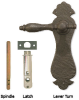 Curved Plate Lever Turn, Solid Bronze -- 850084