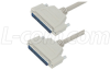 Deluxe Molded D-Sub Cable, DB37 Male / Male, 10 ft -- CSMN37MM-10
