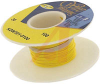 Wire; 100ft 30AWG silver plated copper;yellow Kynar insulated; low strip force -- 70176442