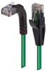 Category 6 Right Angle RJ45 Ethernet Patch Cords - Straight to RA (Up) - Green, 30.0Ft -- TRD695RA2GR-30 -Image