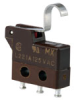 SX Series Subminiature Basic Switch, Single Pole Double Throw (SPDT), 125 Vac, 1 A, Simulated Roller Actuator, Solder Termination -- 313SX4-T