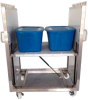 Self Leveling Stainless Steel Clean Room Carts and Hospital Carts -- View Larger Image