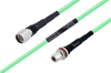 Temperature Conditioned N Male to N Female Bulkhead Low Loss Cable 48 Inch Length Using PE-P300LL Coax -- PE3M0248-48 -Image