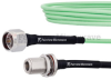 Low Loss N Male to N Female Bulkhead Cable LL142 Coax in 12 Inch and RoHS with LF Solder -- FMCA1237-12 -Image