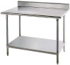 Stainless Steel Worktables with Rear Spl -- GO-47620-80 - Image