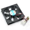 120x120x25mm Cooling Fan Ball Bearing 3Pin/4Pin Combo -- 2801-SF-09 -- View Larger Image