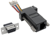 DB9 to RJ45 Modular Serial Adapter (F/F), RS-232, RS-422, RS-485 -- P440-89FF