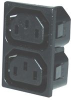 CONNECTOR, POWER ENTRY, RECEPTACLE, 2.5A -- 17B7214