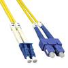 10m LC-SC Duplex Singlemode 9/125 Fiber Optic Cable (32.8ft) -- 10LC-SC10 - Image