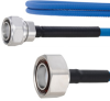 Plenum Low PIM 4.3-10 Male to 7/16 DIN Male Cable SPP-250-LLPL Coax in 24 Inch Using Times Microwave Parts and RoHS -- FMCA1856-24 -Image