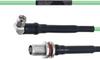 Temperature Conditioned Low Loss RA SMA Male to TNC Female Bulkhead Cable LL160 Coax in 48 Inch -- FMHR0199-48 -Image