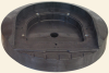 Standard In-Roadway Warning Light Base Plate -- LGS-SD10-C