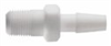 Hose barb to male threaded adapter, Pharmafluor PTFE, 1/4