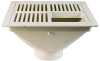 12 in. Square PVC Sanitary Floor Sink -- FS56 -- View Larger Image