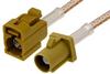 Curry FAKRA Plug to FAKRA Jack Cable 24 Inch Length Using RG316 Coax -- PE38756K-24 -Image