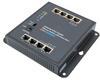 8 Port Industrial Gigabit PoE Ethernet Switch, 4x RJ45 10/100/1000TX, 4x RJ45 10/100/1000TX PoE+ 802.3at/af 60W, Wall, Magnetic , DIN Mount