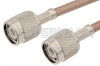 TNC Male to TNC Male Cable 12 Inch Length Using RG303 Coax -- PE33013-12 -Image