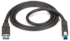 USB 3.0 Cable Type A Male To Type B Male Black 6-ft. -- USB30-0006-MM -- View Larger Image