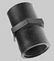 Coupling: Female Pipe Thread to Female Pipe Thread -- 3/4-14 NPT - Image
