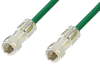 75 Ohm F Male to 75 Ohm F Male Cable 12 Inch Length Using 75 Ohm PE-B159-GR Green Coax -- PE38136/GR-12 -Image