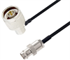BNC Female to N Male Right Angle Cable Assembly using LC085TBJ Coax, 10 FT -- LCCA30637-FT10 -Image