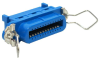 Centronic 24 Female Connector IDC All Plastic Blue -- 24-431 - Image