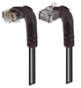 Category 5E Right Angle Patch Cable, Right Angle Up/Right Angle Down, Black 1.0 ft -- TRD815RA4BLK-1 -Image