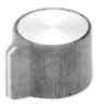STRAIGHT KNURLED POINTER KNOB, 3.175MM -- 26F813