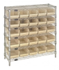 Bins & Systems - 4'' Shelf Bins (QSB Series) - Complete Bin Center - WR6-36-1236-102 - Image