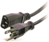 IEC POWER CORD 1 FOOT FOR NETWORK EQUIPMENT BLACK -- 39-200-12 - Image