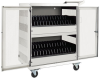 32-Device AC Charging Station Cart for Chromebooks and Laptops, Wall-Mount Option, White -- CSC32ACW