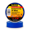 Scotch® Professional Grade Color Coding Vinyl Electrical Tape 35 -BLUE - 1/2/2; x 20 ft roll -- MMMTAPE-35-1/2-20-BLUE -Image