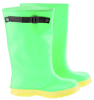 Onguard 87050 Black/Green/Yellow 10 Chemical-Resistant Overboots - 17 in Height - PVC Upper - 791079-11078 -- 791079-11078 - Image