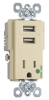 Combination Switch/Receptacle -- TR-8201USBI -- View Larger Image