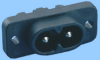 IEC 60320 C8 Shrouded Power Inlet -- 83011510 -- View Larger Image