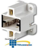 Leviton Compact 4-Hole Vertical Screw-Down Lampholder -- 26720-400