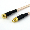 MMCX Plug to RA MMCX Plug Cable RG-316 Coax in 48 Inch and RoHS -- FMC0919315LF-48 -Image